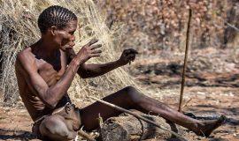 бушмен в Намибии
